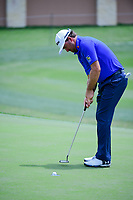 Graeme McDowell (NIR) sinks his par putt during round 1 of the Valero Texas Open, AT&amp;T Oaks Course, TPC San Antonio, San Antonio, Texas, USA. 4/20/2017.<br /> Picture: Golffile | Ken Murray<br /> <br /> <br /> All photo usage must carry mandatory copyright credit (&copy; Golffile | Ken Murray)