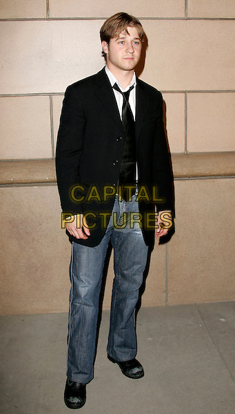 """BENJAMIN McKENZIE.attends """"The O.C. Revealed"""" presented by The Academy of Television Arts & Sciences held at Warner Brother Studios at The Steven Ross Theatre in Burbank, California, USA, March 21st 2005.full length black jacket tie jeans.www.capitalpictures.com.sales@capitalpictures.com.©Debbie VanStory/Capital Pictures"""