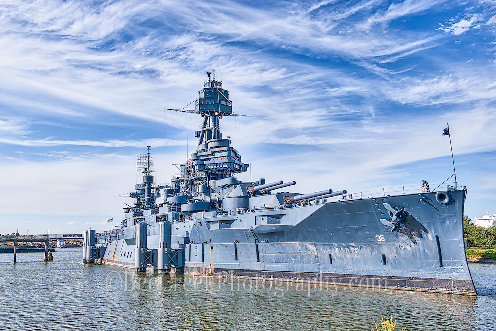 The Battleship Texas is an impressive site and it play some key roles in War World ! and !!. This is a historic landmark.  Now the Battleship Texas is a floating museum and the last remaining U.S. battleship of her kind. She stands as a memorial to the bravery and sacrifice of the servicemen who fought in both world wars.