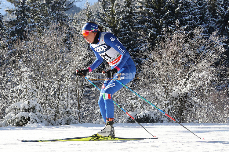 Cross Country Ski World Cup 2018 FIS in Dobbiaco, Toblach, on December 16, 2017; Ladies 10 Km Interval Start Free technique ; Caterina Ganz (ITA)<br /> &copy; Pierre Teyssot / Pentaphoto