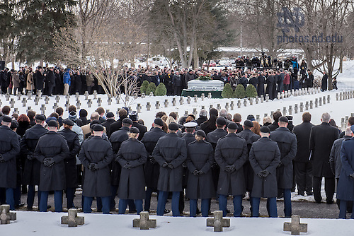 Mar. 4, 2015; Graveside services for President Emeritus Rev. Theodore M. Hesburgh, C.S.C.. (Photo by Matt Cashore/University of Notre Dame)