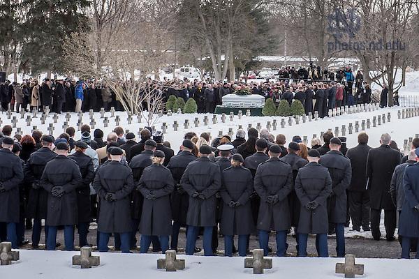 Mar. 4, 2015; Graveside services for President Emeritus Rev. Theodore M. Hesburgh, C.S.C.. (Photo by Matt Cashore/University of Notre Dame)