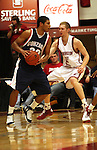Gonzaga's Steven Gray (shown driving against WSU's Abe Lodwick) had 9 points in the Zags victory over Washington State on December 10, 2008, to snap a two game losing streak to the Cougars.  Gonzaga won the game 74-52.