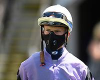 Jockey Luke Cotton during Horse Racing at Salisbury Racecourse on 9th August 2020
