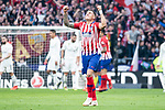 Jose Maria Gimenez of Atletico de Madrid celebrating a goal during La Liga match between Atletico de Madrid and Real Madrid at Wanda Metropolitano in Madrid Spain. February 09, 2018. (ALTERPHOTOS/Borja B.Hojas)
