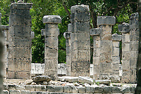 "Just to the east of El Castillo Kukulkan at Chitzen Itza on Mexico's Yucatán Peninsula is a forest of stone pillars called Grupo des las Mil Columnas or ""Group of a Thousand Columns."" ."