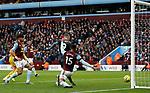 Jamie Vardy of Leicester City scores against Aston Villa during the Premier League match at Villa Park, Birmingham. Picture date: 8th December 2019. Picture credit should read: Darren Staples/Sportimage