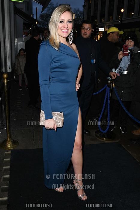 Larissa Eddy arriving for James Ingham's Jog on to Cancer 2018 at Cafe de Paris, London, UK. <br /> 04 April  2018<br /> Picture: Steve Vas/Featureflash/SilverHub 0208 004 5359 sales@silverhubmedia.com