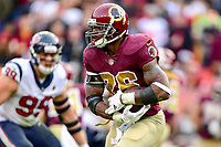 Landover, MD - November 18, 2018: Washington Redskins running back Adrian Peterson (26) runs the football during second half action of game between the Houston Texans and the Washington Redskins at FedEx Field in Landover, MD. The Texans defeated the Redskins 23-21. (Photo by Phillip Peters/Media Images International)