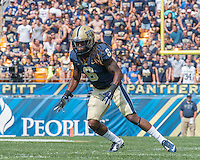 Pitt defensive back Lafayette Pitts. Iowa Hawkeyes defeated the Pitt Panthers 24-20 at Heinz Field, Pittsburgh Pennsylvania on September 20, 2014.
