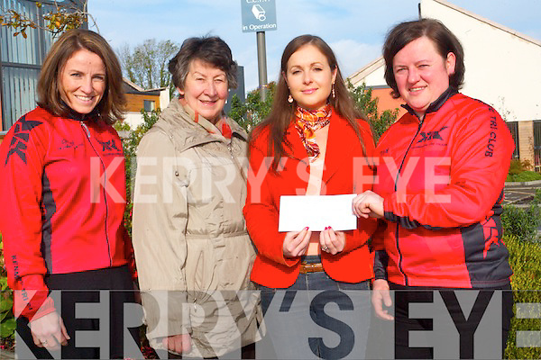 Kenmare Triathlon Club presented a cheque to Kenmare Family Centre this week to help them with their day to day running costs <br /> L-R Suzanne Teahan (Kenmare Tri club), Mary Fitzgerald (Kenmare Community Care), Joy Clifford (Kenmare Family Centre) and Margaret McCarthy (Kenmare Tri Club).