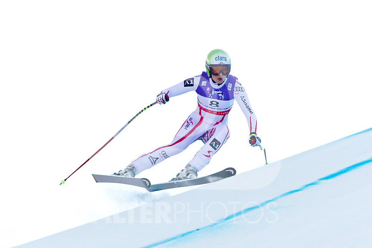 08.02.2011, Kandahar, Garmisch Partenkirchen, GER, FIS Alpin Ski WM 2011, GAP, Lady Super G, im Bild   Anna Fenninger (AUT) whilst competing in the women's super giant slalom (SuperG) race on the Kandahar race piste at the 2011 Alpine skiing World Championships.                                                                                                       Foto nph /  Mitchell Gunn