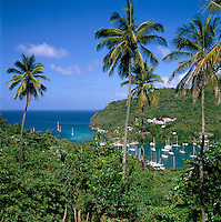 Caribbean, Lesser Antilles, Saint Lucia, Marigot Bay | Karibik, Kleine Antillen, Saint Lucia, Marigot Bay