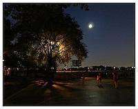 NEW YORK, NY - AUGUST 28: Carl Schurz Park hockey field at night in Yorkville, New York on August 28. Photo Credit: Thomas R Pryor