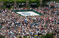Spectators on Murray Mound, (Formally Known as Henman Hill) watch the final between Roger Federer (SUI) and Marin Cilic (CRO), Wimbledon Championships 2017, Day 13, Mens Final, All England Lawn Tennis & Croquet Club, Church Rd, London, United Kingdom - 16th July 2017