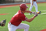 Michael Monda prepares to lay down a sacrifice bunt during the Pac-12 Conference tilt between the Washington State Cougars and the Arizona State Sun Devils at Bailey-Brayton Field in Pullman, Washington, on May 24, 2014.  The Cougars defeated the 21st ranked Sun Devils, 10-7.
