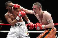Barry Kid Galahad beats Jason Booth on points in a .Boxing contest at the Magna Centre, Rotherham, promoted by Hennessy Sports - 18/02/12 - MANDATORY CREDIT: Chris Royle