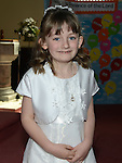 Erin Malyan who received first holy communion in St Michael's church Clogherhead. Photo:Colin Bell/pressphotos.ie