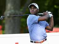 Bethesda, MD - June 25, 2016:  Harold Varner III hits the ball from the 17th tee during Round 3 of professional play at the Quicken Loans National Tournament at the Congressional Country Club in Bethesda, MD, June 25, 2016.  (Photo by Don Baxter/Media Images International)
