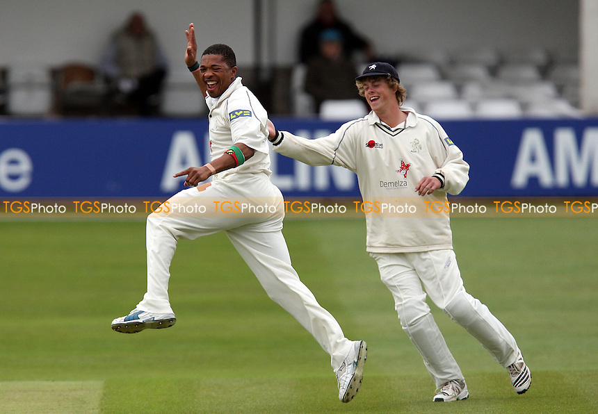 Makhaya Ntini of Kent celebrates the wicket of Alastair Cook - Essex CCC vs Kent CCC - LV County Championship Division One Cricket at the Ford County Ground, Chelmsford -  11/05/10 - MANDATORY CREDIT: Gavin Ellis/TGSPHOTO - Self billing applies where appropriate - Tel: 0845 094 6026