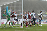 Chris Brunt of West Bromwich Albion forces the ball over the line to make the score 2-1 - Barclays Premier League - Burnley vs West Bromwich Albion - Turf Moor Stadium  - Burnley - England - 8th February 2015 - Picture Simon Bellis/Sportimage