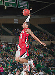 Louisiana Lafayette Ragin Cajuns guard Alan-Michael Thompson (13) in action during the game between the Louisiana Lafayette Ragin Cajuns and the University of North Texas Mean Green at the North Texas Coliseum,the Super Pit, in Denton, Texas. Louisiana Lafayette defeats UNT 57 to 53.