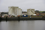 The fuel storage tanks at the Maxol site on the Marsh road being demolished.<br /> Picture www.newsfile.ie