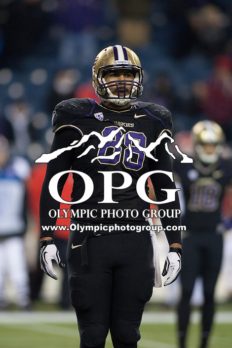 NOV 10, 2012:  Washington's Austin Seferian-Jenkins against Utah.  Washington defeated Utah  34-15 at CenturyLink Field in Seattle, WA...