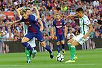 League Santander 2017/2018. Game: 01.<br /> FC Barcelona vs Real Betis: 2-0.<br /> Ivan Rakitic vs Juanjo Narvaez.