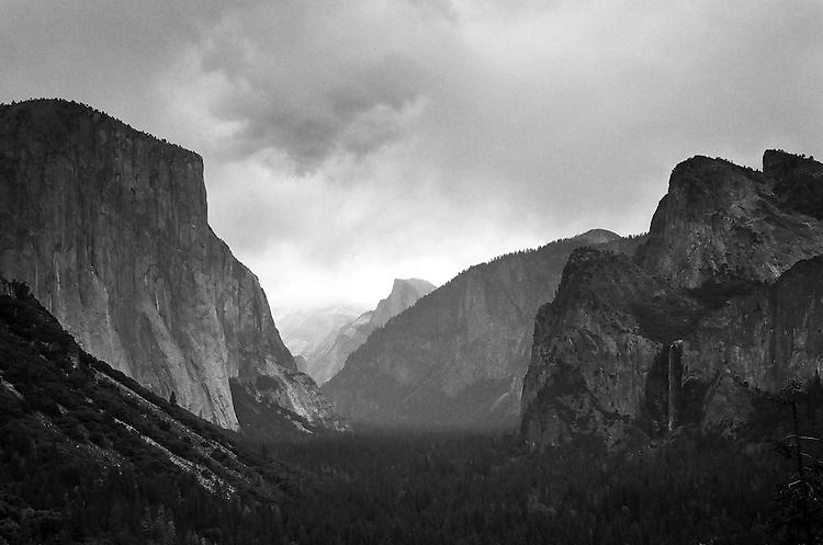 Tunnel View, Yosemite   35mm image on Ilford Delta 100 film