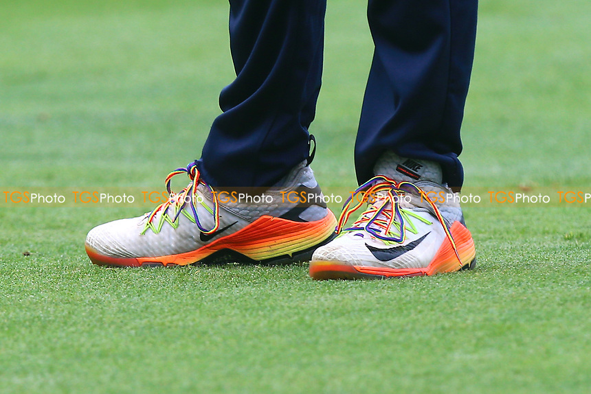 Eoin Morgan of Middlesex wears rainbow laces during Essex Eagles vs Middlesex, NatWest T20 Blast Cricket at The Cloudfm County Ground on 11th August 2017