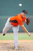 Frederick Keys relief pitcher Matt Hobgood (30) in action against the Winston-Salem Dash at BB&T Ballpark on July 30, 2014 in Winston-Salem, North Carolina.  The Dash defeated the Keys 12-2.   (Brian Westerholt/Four Seam Images)