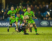 Northampton Saints' Ben Nutley in action during todays match<br /> <br /> Photographer Bob Bradford/CameraSport<br /> <br /> Anglo-Welsh Cup Semi Final - Bath Rugby v  Northampton Saints - Friday 9th March 2018 - The Recreation Ground - Bath<br /> <br /> World Copyright &copy; 2018 CameraSport. All rights reserved. 43 Linden Ave. Countesthorpe. Leicester. England. LE8 5PG - Tel: +44 (0) 116 277 4147 - admin@camerasport.com - www.camerasport.com