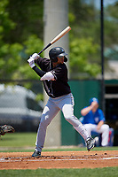 Jupiter Hammerheads Victor Victor Mesa (32) at bat during a Florida State League game against the Dunedin Blue Jays on May 16, 2019 at Jack Russell Memorial Stadium in Clearwater, Florida.  Dunedin defeated Jupiter 1-0.  (Mike Janes/Four Seam Images)