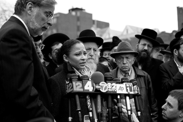 Wednesday, April 18,  2007, Brooklyn, New York..A funeral was held in Brooklyn for Professor Librescu, a holocaust survivor and teacher at Virginia Tech, who was killed in the shootings on Monday.. Dana Dillon-Townes, a former student of the professor who now lives in Manhattan, attended the services and spoke to the professor's wife, Marlena..