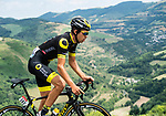 Lilian Calmejane (FRA) Direct &Eacute;nergie out front from the breakaway group during Stage 15 of the 2018 Tour de France running 181.5km from Millau to Carcassonne, France. 22nd July 2018. <br /> Picture: ASO/Alex Broadway | Cyclefile<br /> All photos usage must carry mandatory copyright credit (&copy; Cyclefile | ASO/Alex Broadway)
