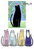 Kate, CUTE ANIMALS, LUSTIGE TIERE, ANIMALITOS DIVERTIDOS, paintings+++++Cats and dogs page 46,GBKM95,#ac#, EVERYDAY ,cat,cats