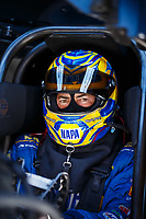 May 7, 2017; Commerce, GA, USA; NHRA funny car driver Ron Capps during the Southern Nationals at Atlanta Dragway. Mandatory Credit: Mark J. Rebilas-USA TODAY Sports