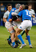 Photo: Richard Lane/Richard Lane Photography. Ireland U20 v Italy U20. Semi Final. 18/06/2008. Ireland's Kieran Essex attacks.