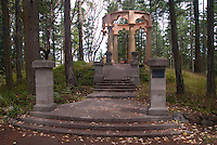 Alpenglow Vista Mausoleum at Roche Harbor, San Juan Island, Washington, US