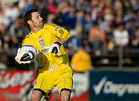 Earthquakes' goalkeeper Joe Cannon in action during the game against Real Salt Lake at Buck Shaw Stadium in Santa Clara, California on March 27th, 2010.   Real Salt Lake defeated San Jose Earthquakes, 3-0.