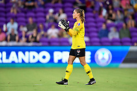 Orlando, FL - Saturday July 07, 2018: Aubrey Bledsoe during the first half of a regular season National Women's Soccer League (NWSL) match between the Orlando Pride and the Washington Spirit at Orlando City Stadium.
