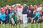 Rory McIlroy with his caddie at the Irish Open in Killarney on Friday..................