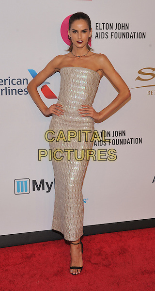 New York,NY-November 2: Izabel Goulart attend Elton John AIDS Foundation's 14th Annual An Enduring Vision Benefit at Cipriani Wall Street on November 2, 2015 in New York City.. <br /> CAP/MPI/STV<br /> &copy;STV/MPI/Capital Pictures