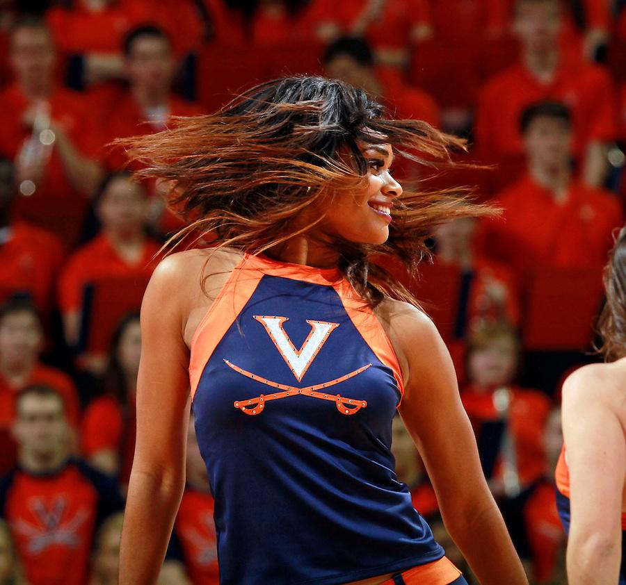 Virginia dancer during the game Jan. 22, 2015, in Charlottesville, Va. Virginia defeated Georgia Tech 57-28.