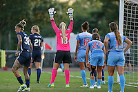 Piscataway, NJ - Saturday Aug. 27, 2016: Tasha Kai, Leah Galton, Caroline Stanley, Cara Walls, Danielle Colaprico during a regular season National Women's Soccer League (NWSL) match between Sky Blue FC and the Chicago Red Stars at Yurcak Field.