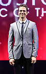 """Adam Trent, """"The Futurist"""" from the cast of Broadway's """"The Illusionists—Magic of the Holidays"""" on stage for a press preview at the Marquis Theatre  on November 27, 2018 in New York City."""