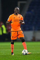 Liverpool's Sadio Mane celebrates with the match ball after his hat-trick <br /> <br /> Photographer Craig Mercer/CameraSport<br /> <br /> UEFA Champions League Round of 16 First Leg - FC Porto v Liverpool - Wednesday 14th February 201 - Estadio do Dragao - Porto<br />  <br /> World Copyright &copy; 2018 CameraSport. All rights reserved. 43 Linden Ave. Countesthorpe. Leicester. England. LE8 5PG - Tel: +44 (0) 116 277 4147 - admin@camerasport.com - www.camerasport.com