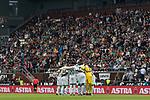22.07.2017, Millerntor-Stadion, Hamburg, GER, FSP, FC St. Pauli vs SV Werder Bremen<br /> <br /> im Bild<br /> Startelf im Mannschaftskreis, <br /> Jiri Pavlenka (Werder Bremen #1), Luca Caldirola (Werder Bremen #3), Robert Bauer (Werder Bremen #4), Florian Kainz (Werder Bremen #7), Jerome Gondorf (Werder Bremen #8), Aron J&oacute;hannsson / Johannsson (Werder Bremen #9), Max Kruse (Werder Bremen #10), Milos Veljkovic (Werder Bremen #13), Ulisses Alexandre Garcia (Werder Bremen #20), Lamine San&eacute; / Sane (Werder Bremen #26), Philipp Bargfrede (Werder Bremen #44), <br /> <br /> Foto &copy; nordphoto / Ewert