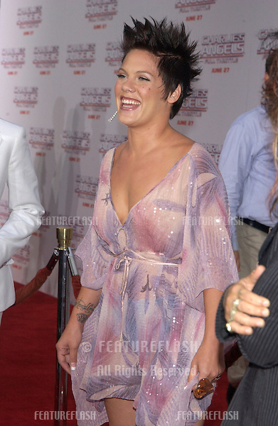 Pop star PINK at the Hollywood premiere of Charlie's Angels: Full Throttle..June 18, 2003.